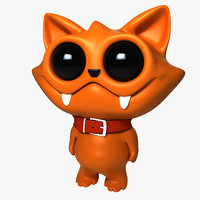 cat cartoon 3D model