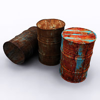 rusty drums 3D model