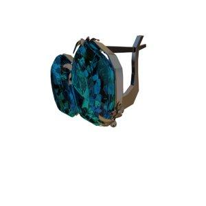 earrings topaz 3D