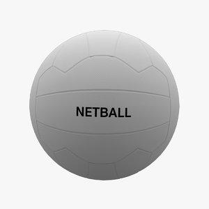adult size netball 3D