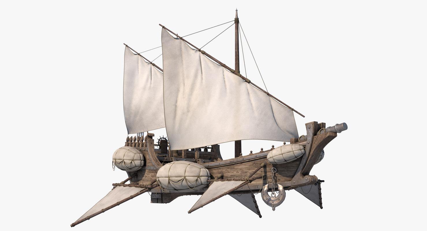 flying ship model
