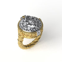 antique ring 3D model