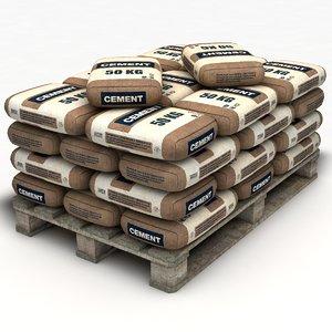 pallet cement bags model