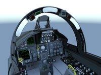 3D f-15c cockpit model