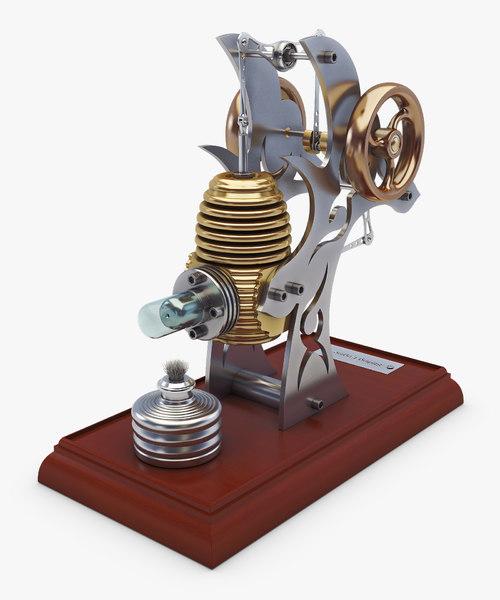 3D stirling engine v 2 model