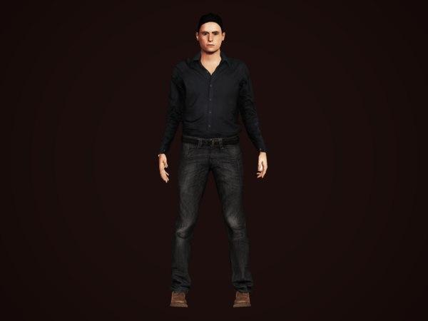 businessman human clothes 3D model