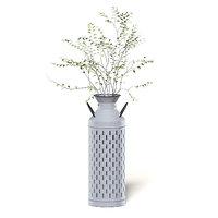 plant metal pot 3D model