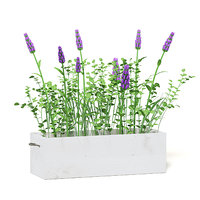 3D purple flowers wooden box