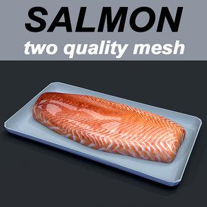 salmon food 3D model