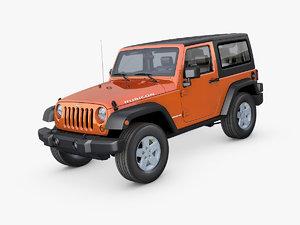jeep wrangler rubicon suv 3D model
