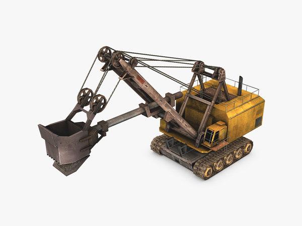 electric rope shovel 3D model