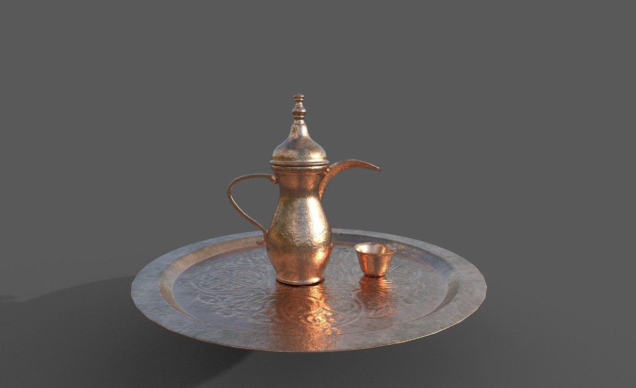 3D arabic coffee model