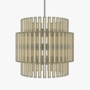 3D leebroom aurora chandelier model
