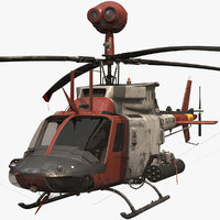 Helicopter oh-58d NM model