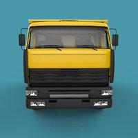 truck materials 3D model