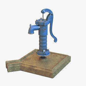 3D model hand water pump