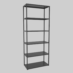 3D office bookcase 800