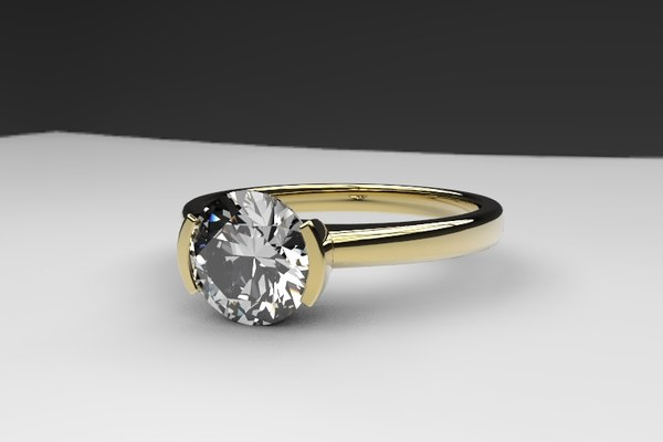 beautiful solitaire engagement ring model