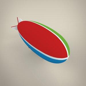 aircraft airship blimp 3D model