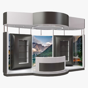 3D exhibition expo stand model