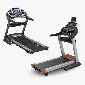 3D treadmills rigged model