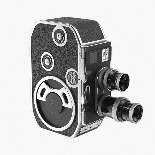 realistic bolex paillard b8 3D model