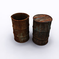 rusty barrel 3D model