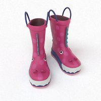 3D kids boots dragon
