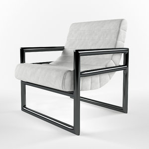 3D cannes occasional chair model