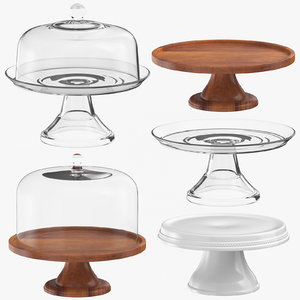 cake pie stands 3D model