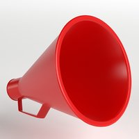 3D acoustic megaphone 2 model