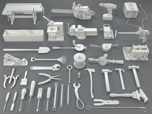tools - 40 pieces 3D model