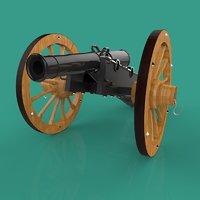 3D field gun model