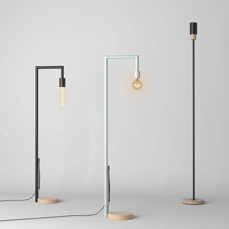set 3 floor lamps model