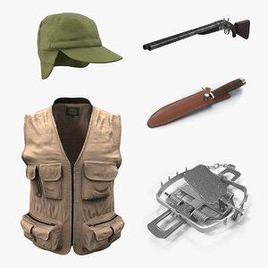 hunting equipment 3D model