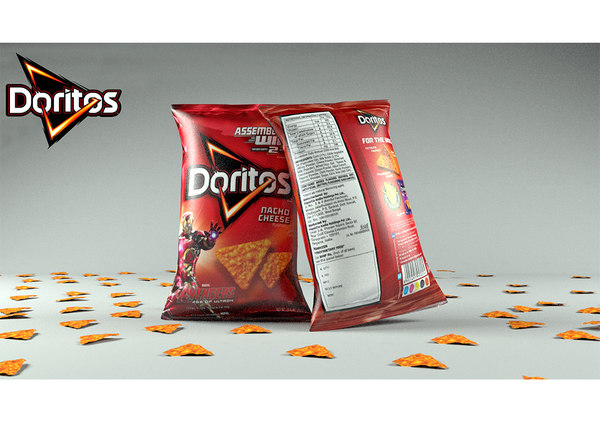 lays packet 3D model