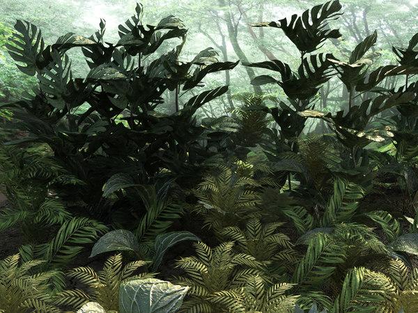 tropic plants 10 types 3D model