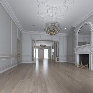 3D classic interior room