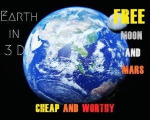 3D model realistic earth