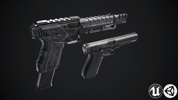 3D weapon gun model