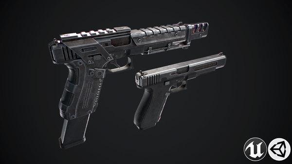 3D weapon gun model