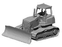 bulldozer scanned model