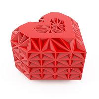 heart jewelry box 3D