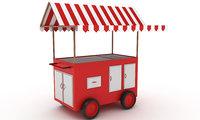 t food cart 3D model