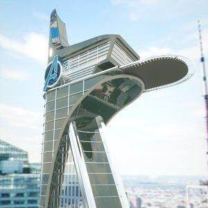 3D model avengers tower