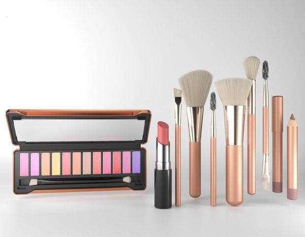 makeup brushs 3D model
