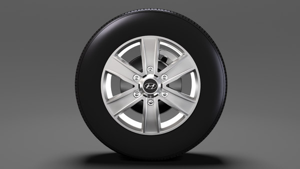 3D hyundai h350 van wheel model