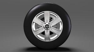 3D hyundai h350 van wheel model