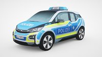 3D generic police car v8