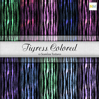 Tigress Colored 10 Seamless Fabric Textures